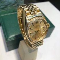 Rolex Yellow gold Automatic No numerals 36mm pre-owned Datejust