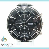 Oris ProDiver Chronograph pre-owned 51mm Black Chronograph Titanium