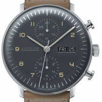 Junghans max bill Chronoscope Steel 40mm Grey Arabic numerals United States of America, Texas, FRISCO