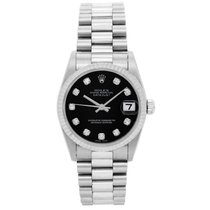 Rolex Oyster Perpetual 18k White Gold Midsize Watch 68279