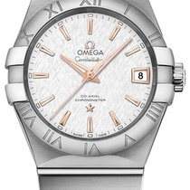 Omega Constellation Men Staal 38mm Zilver