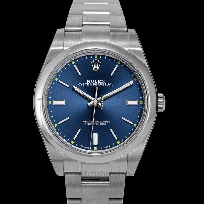 Rolex Oyster Perpetual 39 Automatic Blue Dial Men\u0027s Watch 11