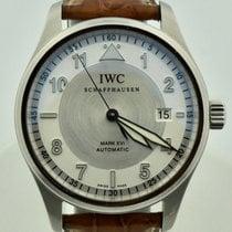 IWC Pilot Mark pre-owned 39mm Silver Date Crocodile skin