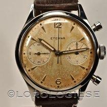 Eterna – 1940's Waterproof Steel Tropical Dial Chronograph –...