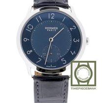 Hermès Slim d'Hermès Steel 39.5mm Blue Arabic numerals