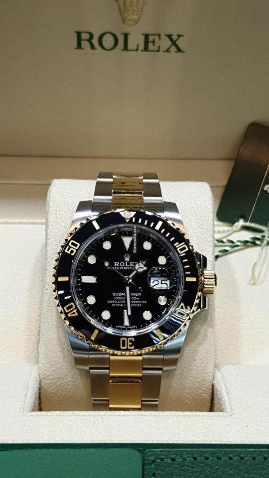 mode de premier ordre lisse en stock Rolex Submariner Date gold/steel