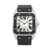 Cartier Santos 100 pre-owned 38mm White Rubber