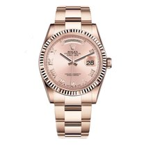 Rolex DAY-DATE 36mm 18K Rose Gold Oyster Watch 118235