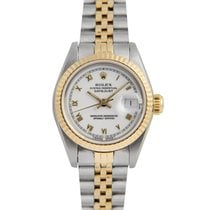 Rolex Datejust Ladies Steel & Gold, White Dial, 69173,...