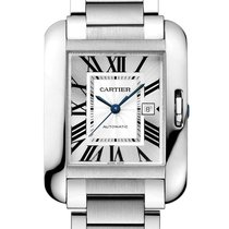 Cartier Tank Anglaise Steel 39.2mm Silver Roman numerals United Kingdom, London