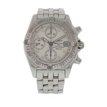Breitling Chrono Cockpit pre-owned 39mm Silver Chronograph Date Steel