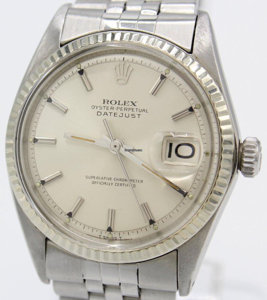 Rolex Datejust Ref.:1601 v. 1968 mit Weißgold Lünette und Echtheitsbescheinigung