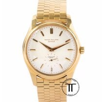 Patek Philippe Yellow gold Automatic White No numerals 36mm pre-owned Calatrava