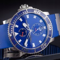 Ulysse Nardin White gold Automatic Blue Arabic numerals 43mm pre-owned Maxi Marine Diver