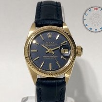 Rolex Lady-Datejust Gelbgold 26mm Blau Keine Ziffern Schweiz, Chiasso