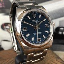 Rolex Oyster Perpetual 34 Ocel 34mm Modrá Arabské