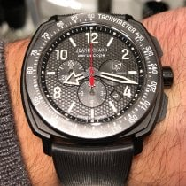 JeanRichard Aeroscope Titanium 44mm Black Arabic numerals