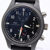 IWC Fliegeruhr Chronograph Top Gun gebraucht 46mm Schwarz Chronograph Faltschließe