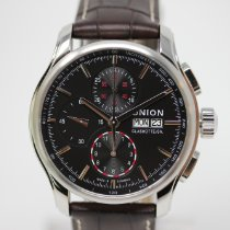 Union Glashütte Viro Chronograph Otel 43mm Negru