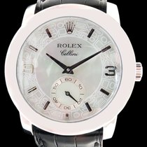 Rolex Platinum Manual winding Mother of pearl Arabic numerals 36mm pre-owned Cellini
