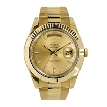Rolex Day-Date II Yellow gold 41mm Gold No numerals United States of America, New York, New York