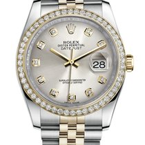 Rolex Datejust 36mm Steel and Yellow Gold Diamonds
