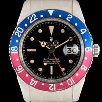 Rolex GMT-Master Pepsi Bezel Vintage Gilt Dial No Crown Guard...