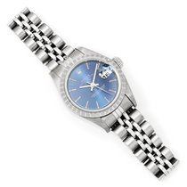 Rolex Ladies Rolex Date Stainless Jubilee Blue Dial '00 79240...