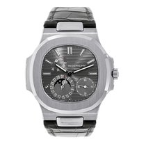 Patek Philippe Nautilus Moon Phase White Gold Watch 5712G-001