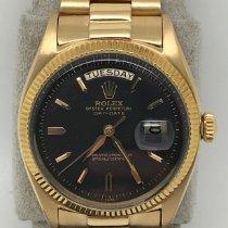 Rolex Day-Date 36 Or jaune Noir Sans chiffres