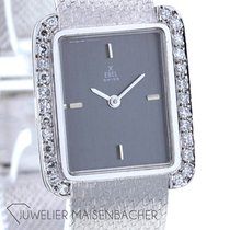 Ebel White gold Manual winding Silver No numerals Classic