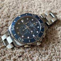 TAG Heuer Chronograf 43mm Quartz 2010 použité Aquaracer 300M Modrá