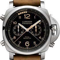Panerai Luminor 1950 Regatta 3 Days Chrono Flyback Titanium 47mm Black Arabic numerals United States of America, Iowa, Des Moines
