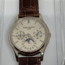 Patek Philippe Perpetual Calendar Or blanc 37.2mm Sans chiffres