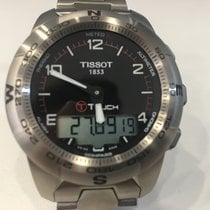 Tissot T-Touch II rabljen 43.3mm Crn Kronograf Datum, nadnevak Mjesecni pokazivac Godisnji pokazivac Trajnji kalendar Budilica Titan