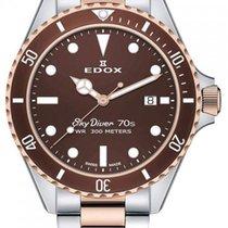 Edox Steel 42mm Quartz 53017 357RBRM BRI new