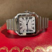 Cartier Stal Automatyczny Biały używany Santos (submodel)