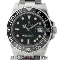 Rolex GMT-Master II Ceramic Stainless Steel Black Dial 40m