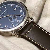 Hamilton PIONEER SMALL SECOND AUTO Blue Dial Brown Leather 40mm
