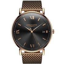 Ambassador Watches Heritage 1863 Gold Case with Gold Mesh Strap