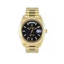 Rolex Day Date Black 18 K Yellow Gold 228238