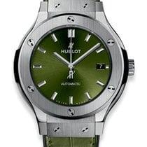 Hublot Classic Fusion Green Titanium deutsche Papiere inkl M