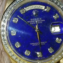 Rolex 18348 factory original diamond bezel band and lapis dial