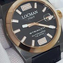 Locman Stealth Steel 43.5mm Black Arabic numerals