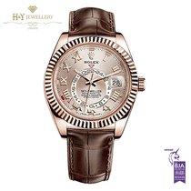 Rolex Sky-Dweller Rose gold 42mm Champagne Arabic numerals
