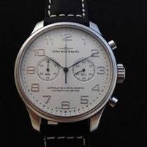 Zeno-Watch Basel Chronograph 47mm Automatik 2015 neu Silber