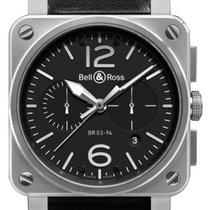 Bell & Ross BR 03-94 Chronographe new 2019 Automatic Chronograph Watch with original box and original papers BR0394-BL-SI/SCA