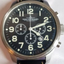Zeno-Watch Basel OS Pilot Otel 45mm Negru