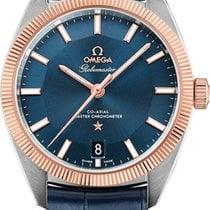 Omega Globemaster Gold/Steel 39mm Blue No numerals United States of America, Florida, Sunny Isles Beach