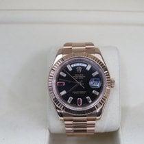 Rolex Day-Date II gebraucht 41mm Schwarz Datum Roségold